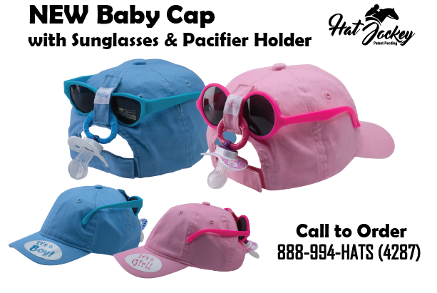 Pink Baby Hat w  Sunglasses   Pacifer – Hat Jockey b53bbc65a9c