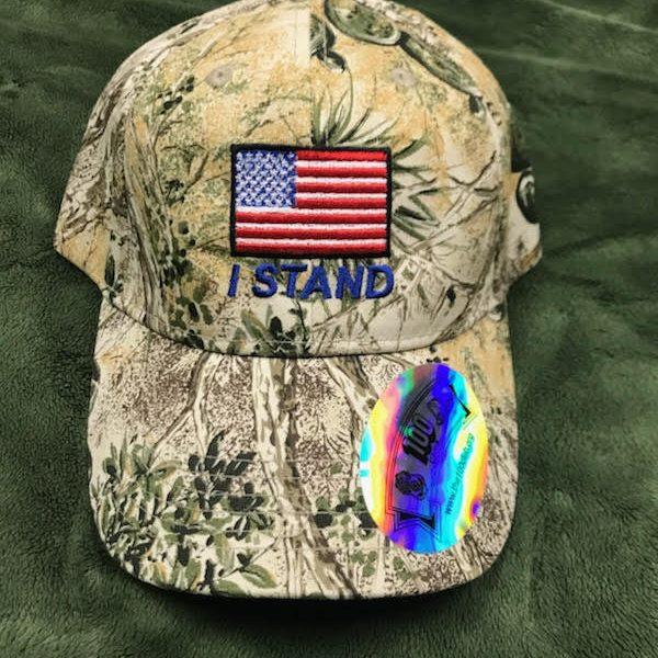 Camo I Stand America Flag