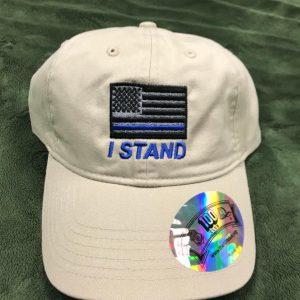 Tan I Stand Police Flag