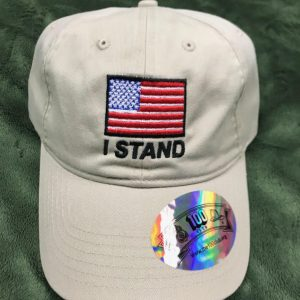 Tan I stand America Flag